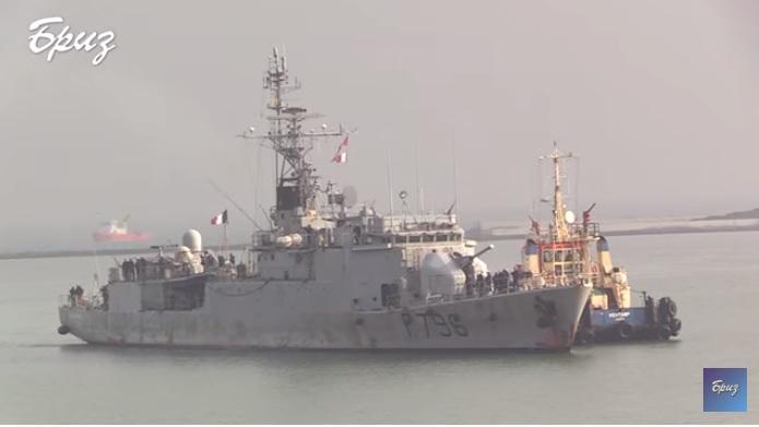 В Одесский порт зашел корвет ВМС Франции (ВИДЕО)