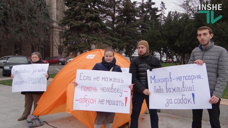 Николаев – не псарня: мэрию пикетируют горожане, которые хотят принятия программы обращения с бездомными животными, и зовут на субботний митинг (ФОТО, ВИДЕО)