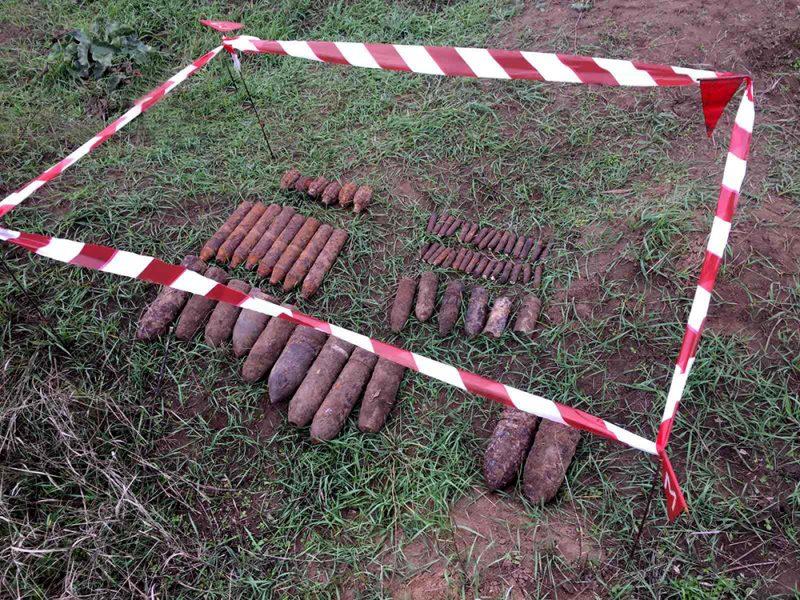 У села Шевченково на Николаевщине обнаружили 61 взрывоопасный предмет (ФОТО)