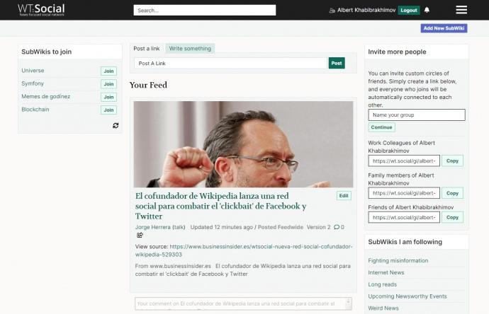 Сооснователь Википедии запустил соцсеть без рекламы (ФОТО)