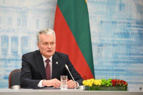 Президент Литвы призвал Россию к выполнению минских договоренностей