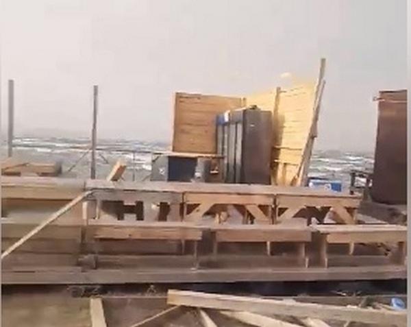 На Николаевщине от урагана пострадала и устричная ферма (ВИДЕО)