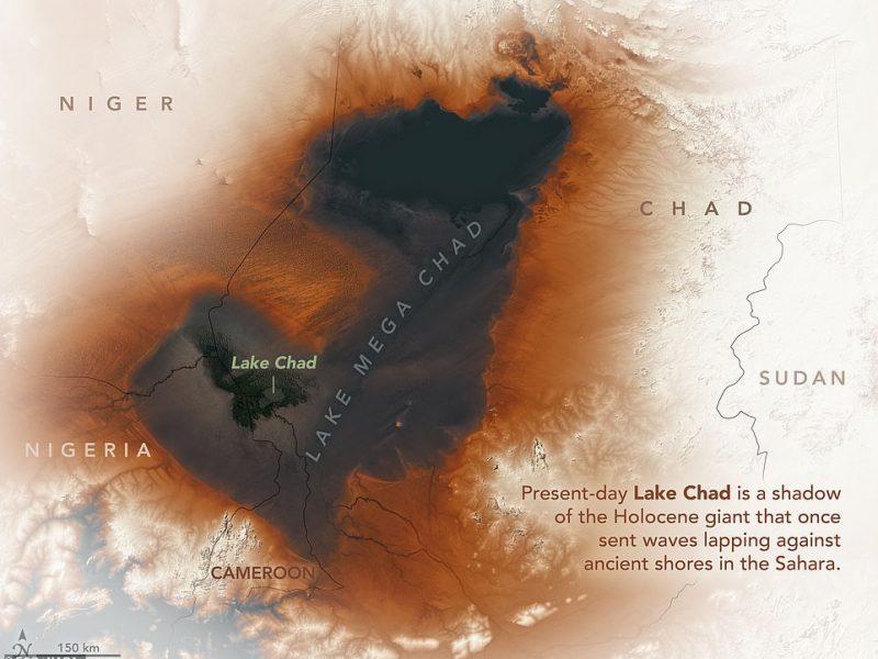 NASA показало, как выглядело древнее озеро в Сахаре (ФОТО)