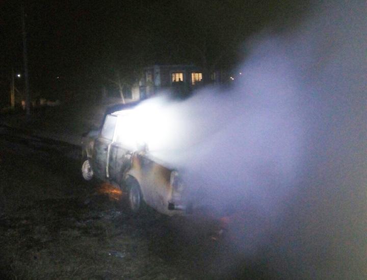 В Новой Одессе на ходу загорелся ВАЗ (ФОТО)