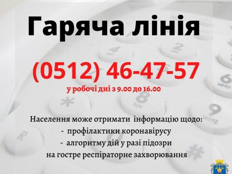 В Николаевской области определились с «горячей телефонной линией» по коронавирусу