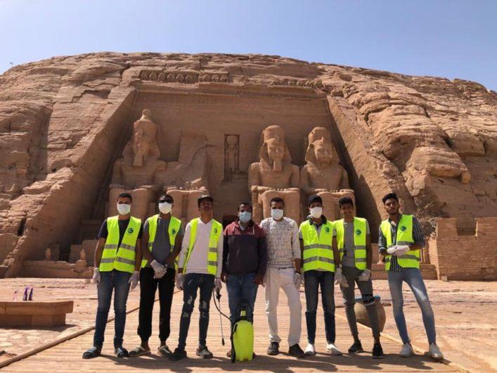 В Египте провели дезинфекцию пирамид и других достопримечательностей (ФОТО)