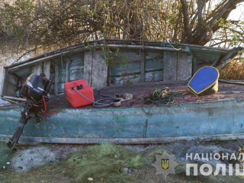На Южном Буге полицейские Николаевщины вытралили 6 браконьерских сетей