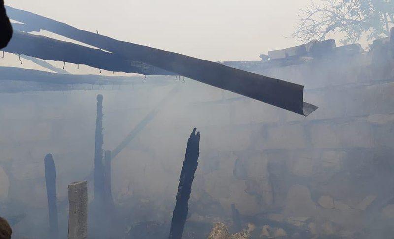 Из-за короткого замыкания на Николаевщине сгорела хозпостройка (ФОТО)