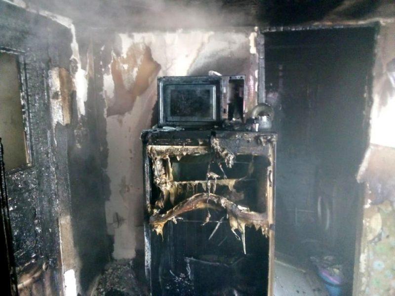 В Братском районе тушили кухню (ФОТО)