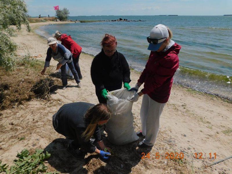 Жители Николаева и Очакова очистили от мусора берег Днепро-Бугского лимана (ФОТО)