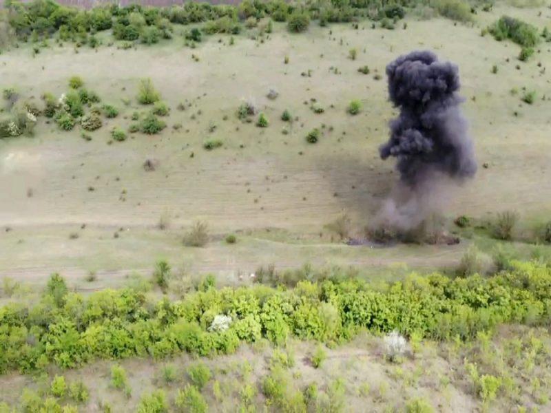 На Николаевщине спасатели уничтожили крупную партию взрывчатки (ВИДЕО)