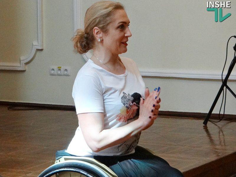 «Танец моей души»: в Николаеве прошли мастер-классы пятикратной чемпионки мира по спортивным танцам на колясках Елены Чинки (ФОТО, ВИДЕО)