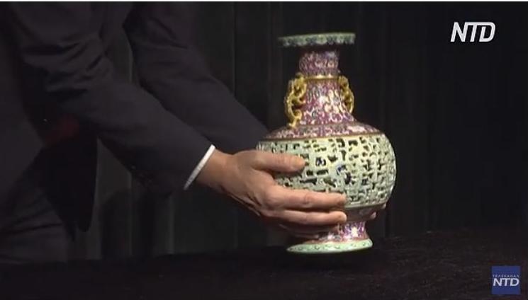 Уникальную вазу китайского императора продадут на аукционе Sotheby's (ВИДЕО)