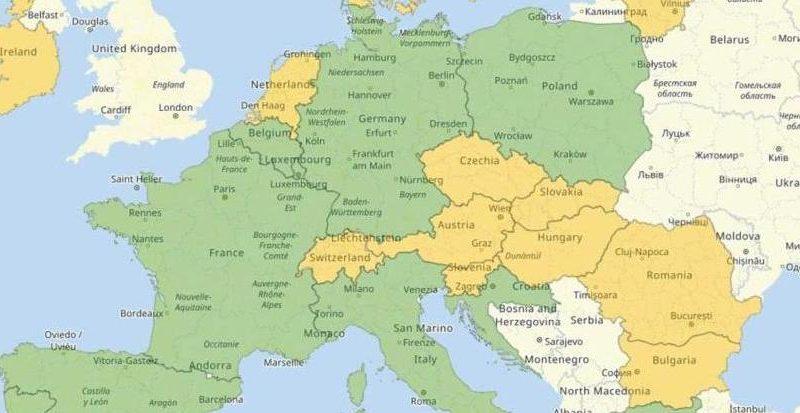 Заработал сайт о путешествиях по Европе в условиях коронавируса