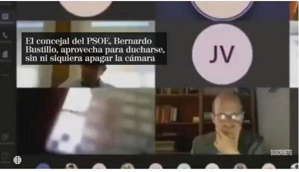 Неудобно получилось: испанский чиновник случайно провёл видеоконференцию из душа (ВИДЕО)