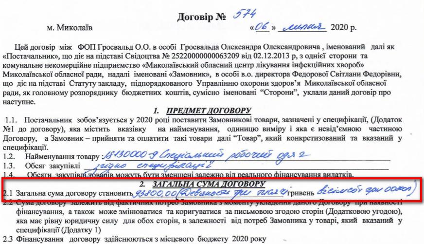 """По какой же цене Николаевская """"инфекционка"""" купила 500 одноразовых костюмов биозащиты? 5"""