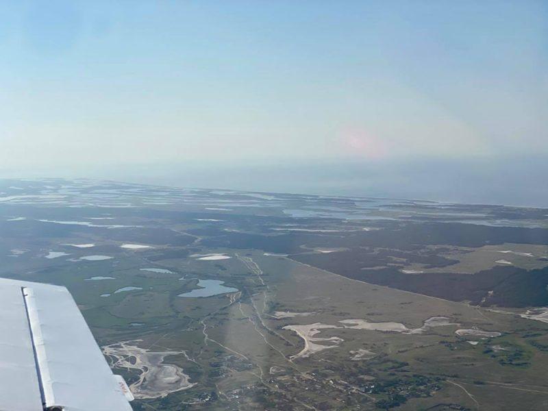 В связи с чрезвычайной пожароопасностью за лесами Николаевщины следят с высоты (ФОТО)