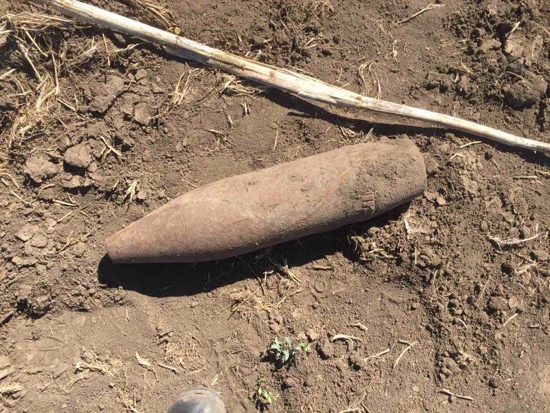 Пиротехники уничтожили два артиллерийских снаряда, которые нашли жители Веселиновского района (ФОТО) 1