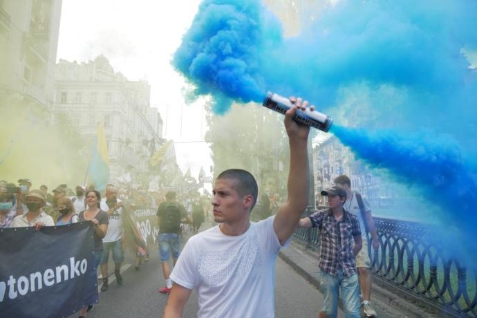 Тысячи людей вышли в поддержку подозреваемых по делу Шеремета (ФОТО, ВИДЕО) 9