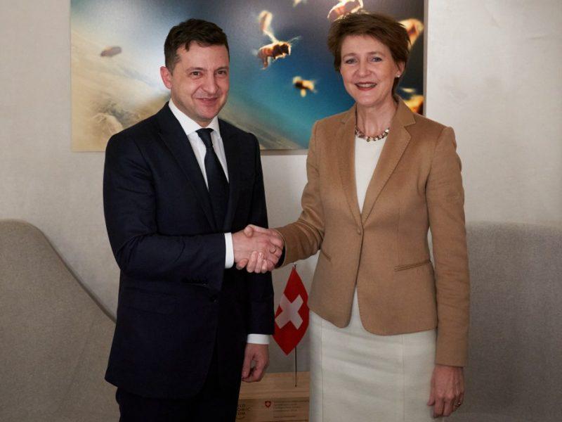 Зеленский завтра проведет встречу с президентом Швейцарии