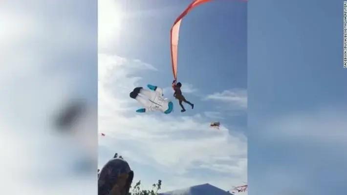 На Тайване воздушный змей поднял в небо 3-летнюю девочку, запутавшуюся в «хвосте» (ВИДЕО)