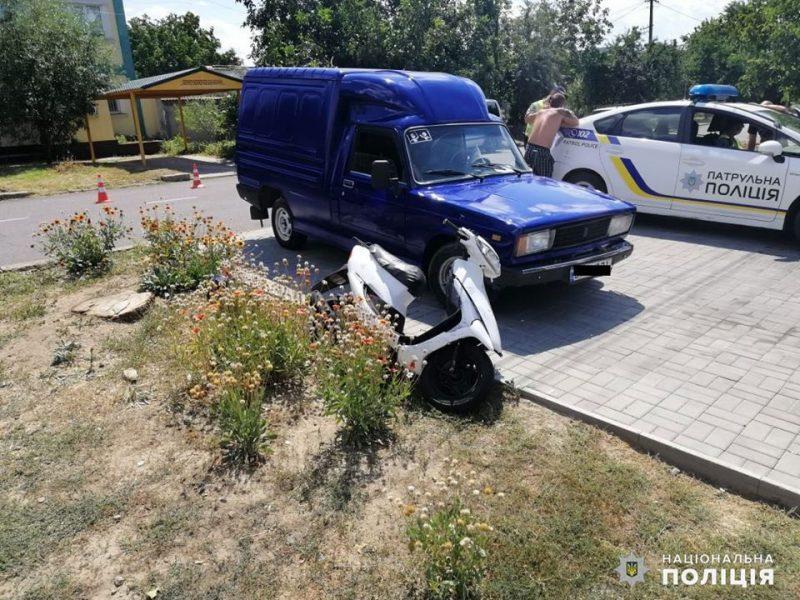 В Николаеве в ДТП травмировалась несовершеннолетняя пассажир мопеда (ФОТО)