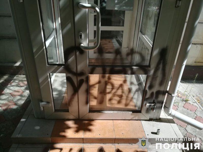 В Николаеве хулиганскими надписями разрисовали офис «Партии Шария» (ФОТО, ВИДЕО)