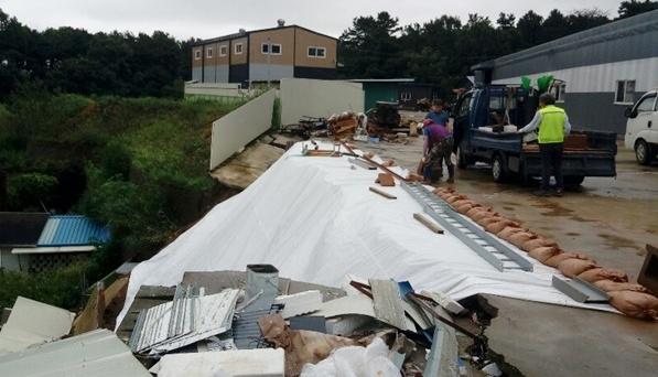 В Южной Корее наводнения затопили поля, автопути и железные дороги, есть погибшие