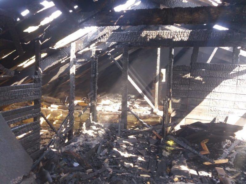 В Коблево выгорела крыша жилого дома (ФОТО)
