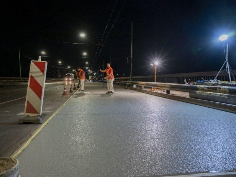 На Ингульском мосту в Николаеве завершился ремонт одной полосы (ФОТО)