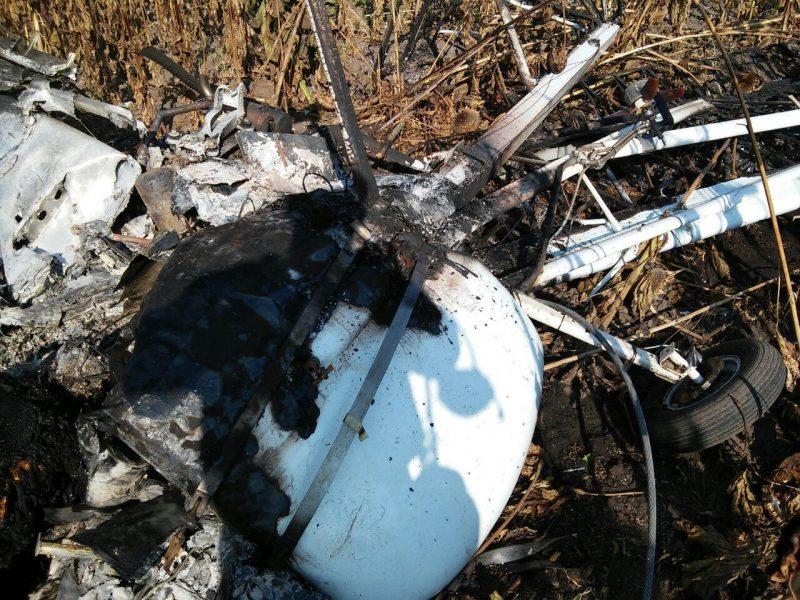 В Сумской области упал легкомоторный самолет – пилот погиб (ФОТО)