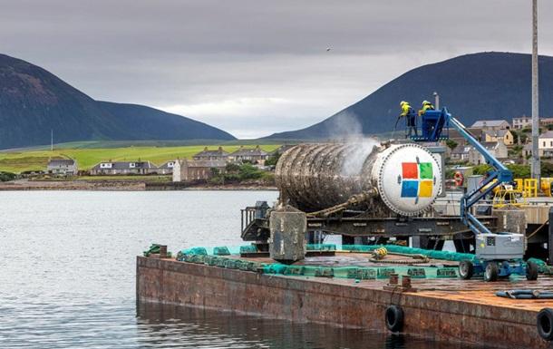 Серверы Microsoft будут храниться  на дне моря