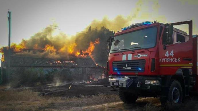 Огонь полностью уничтожил село на Харьковщине (ФОТО)