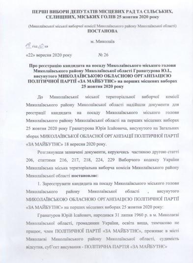 Сенкевич, Гранатуров и их команды: в Николаеве зарегистрировали первых кандидатов (СПИСКИ) 5