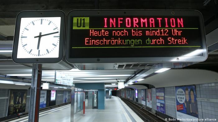 В Германии сотрудники общественного транспорта устроили всеобщую забастовку
