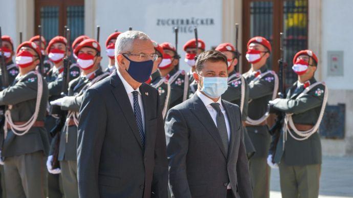Зеленский призвал австрийцев участвовать в концессии портов и приватизации госбанков