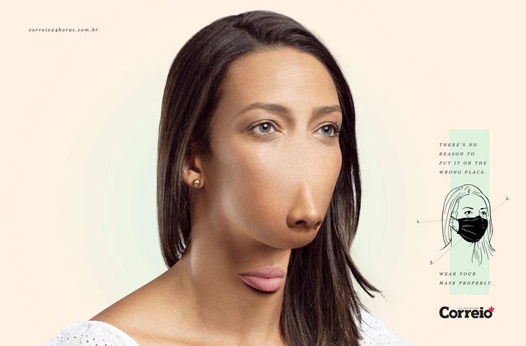Как выглядели бы люди, если бы носить маску на подбородке было бы правильно (ФОТО)