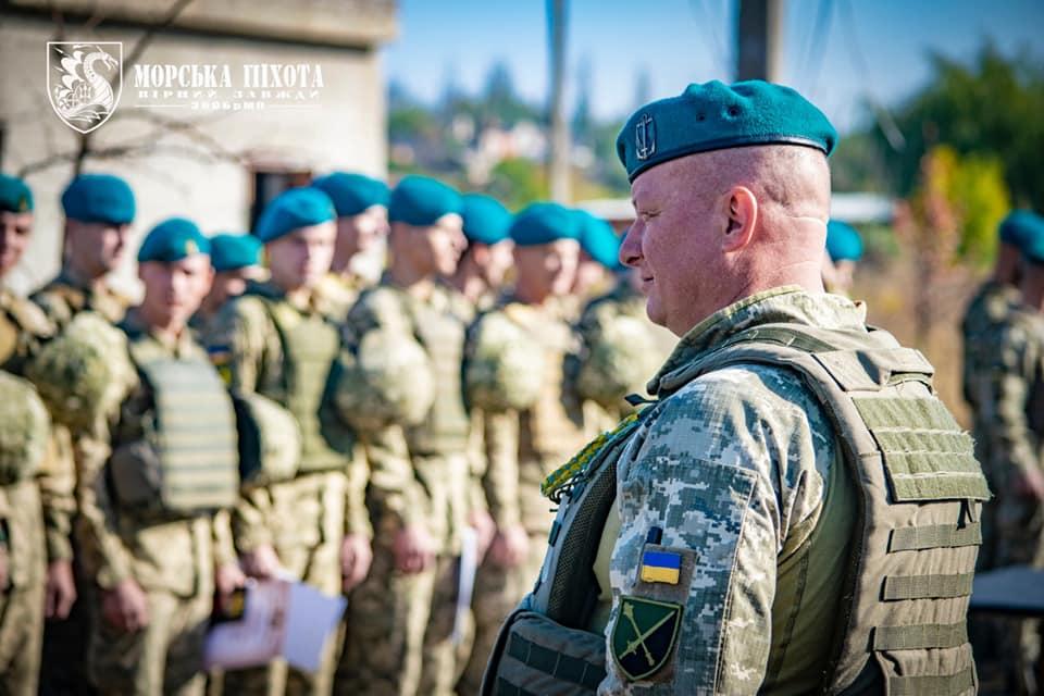 Николаевские морпехи давали Клятву морского пехотинца в Широкино (ФОТО) 1