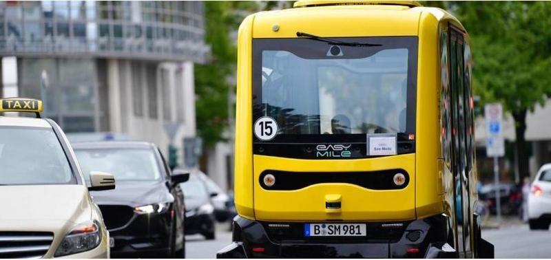 С декабря этого года по улицам Берлина можно будет прокатиться на рейсовом беспилотном электробусе