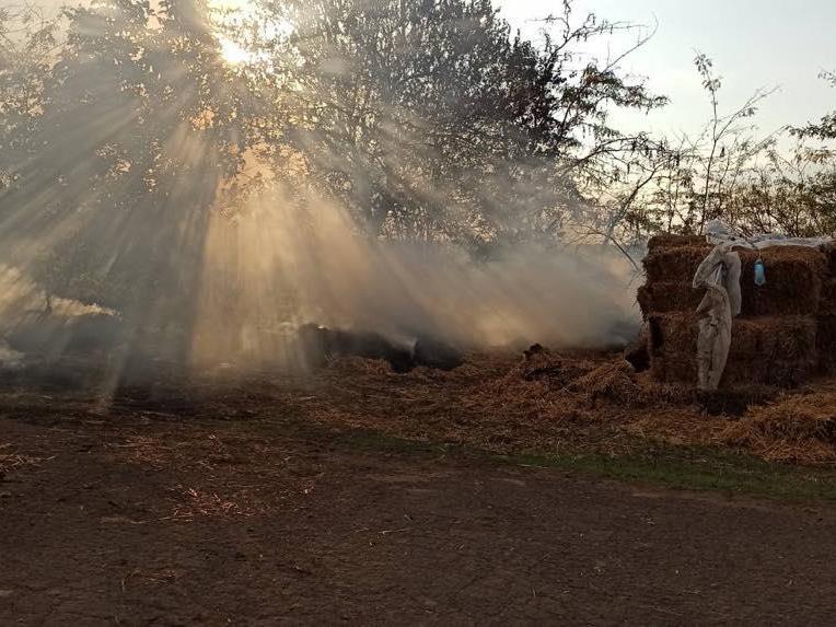 Хозпостройка, сено и 3 пожара на открытых территориях: что тушили в Николаевской области за сутки (ФОТО) 1