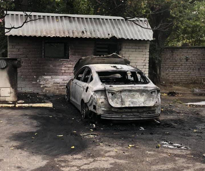 Жело показал видео поджога его авто