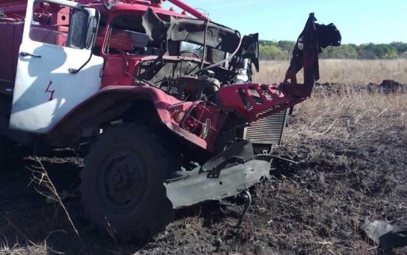 В Луганской области пожарный автомобиль подорвался на взрывчатке: трое пострадавших