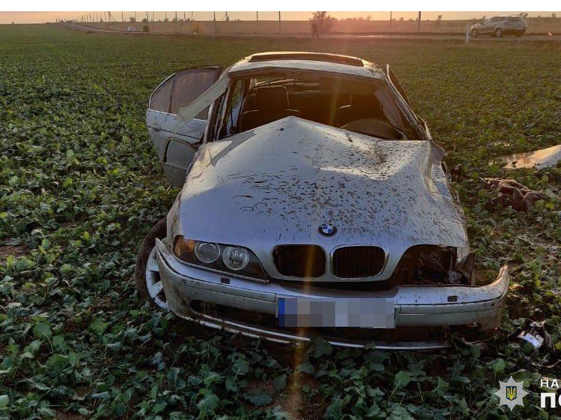 На Николаевщине BMW слетел в кювет: водитель погиб