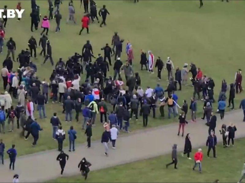 В Минске начались жесткие задержания протестующих и представителей СМИ (ВИДЕО)