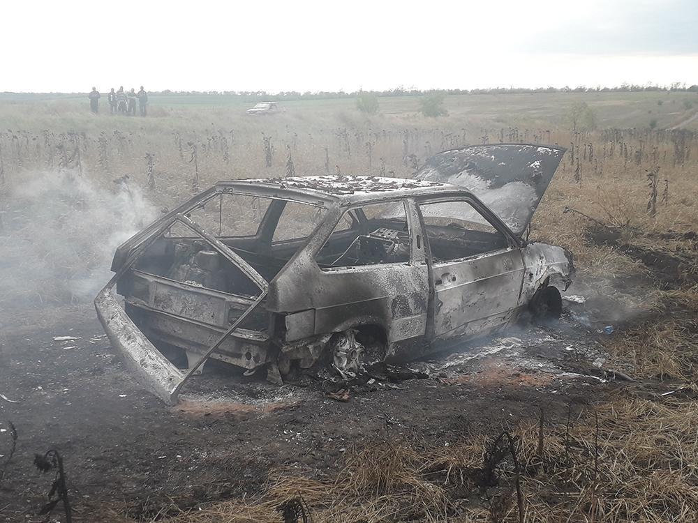 На Николаевщине из-за перегрева двигателя сгорел ВАЗ 1