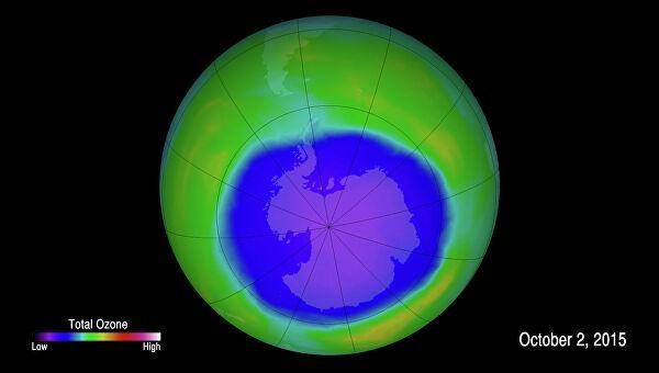 Озоновая дыра достигла критических размеров