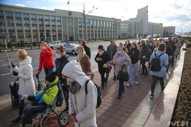 В Минске на протест вышли люди с инвалидностью 5
