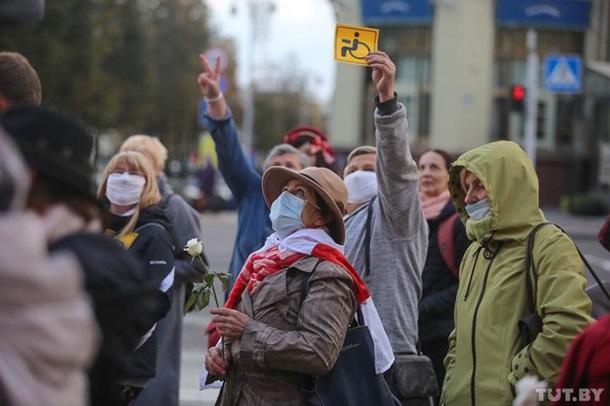 В Минске на протест вышли люди с инвалидностью 7