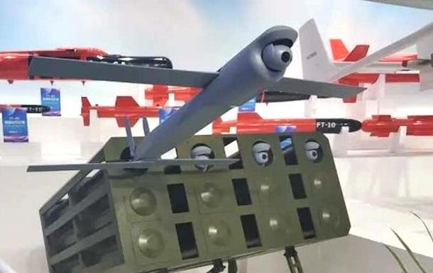 В Китае провели залповый запуск дронов-снарядов