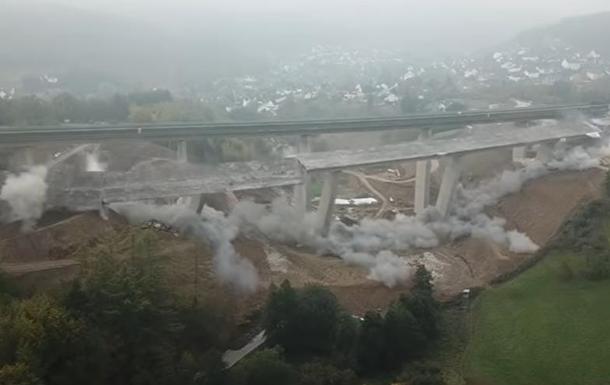 В Германии зрелищно взорвали старый мост (ВИДЕО)